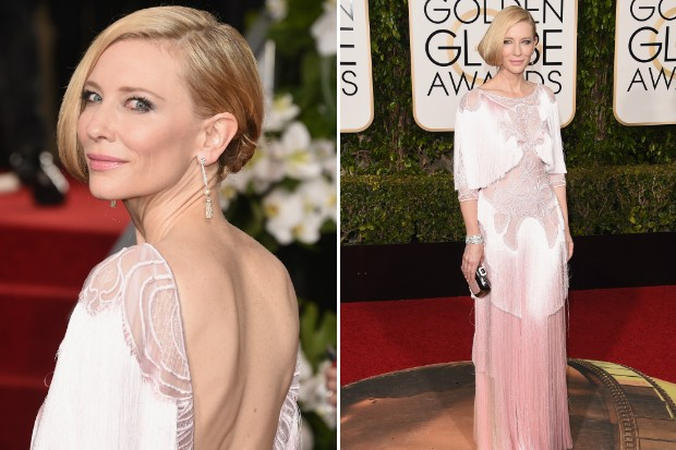 Cate Blanchett met mooie pareloorbellen