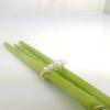 geelgouden ring met echte parels en diamanten