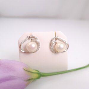zilveren oorbellen met echte parels