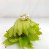 ring in geelgoud met echte parels en diamanten