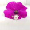 witgouden ring met echte parel en diamanten