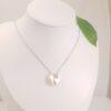 zilveren hals ketting met keshi parel