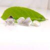 zilveren oorbellen met echte parels, plat van vorm