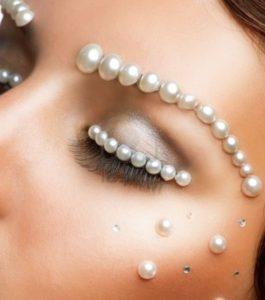 parels als make-up gebruikt