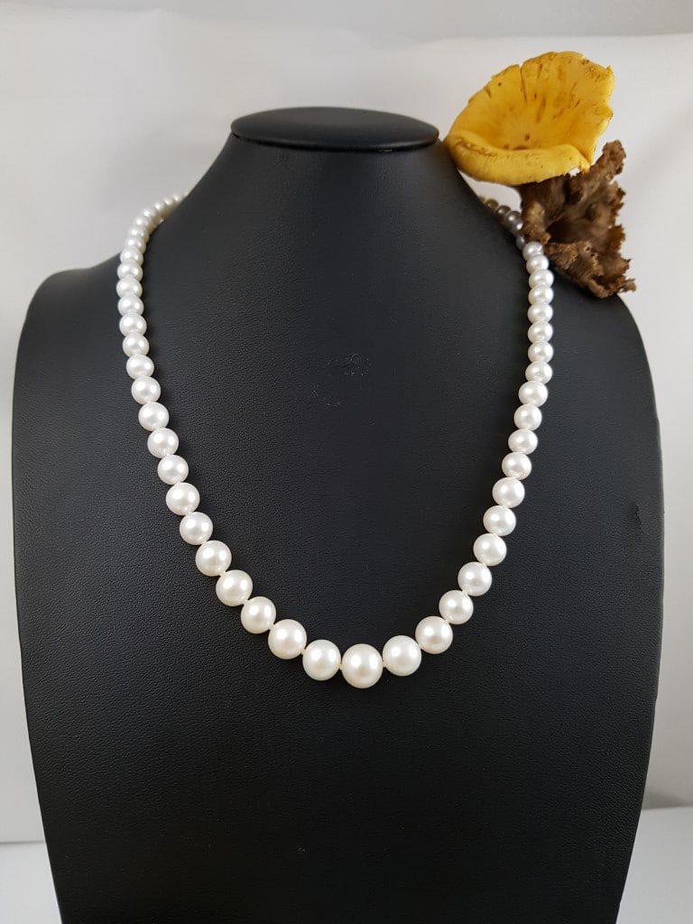 halsketting van echte parels