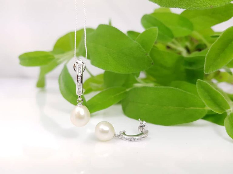 zilveren oorbellen, afhangend model