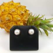 zilveren oorbellen met parels