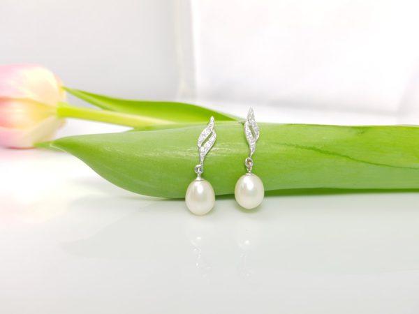 oorbellen met witte parels