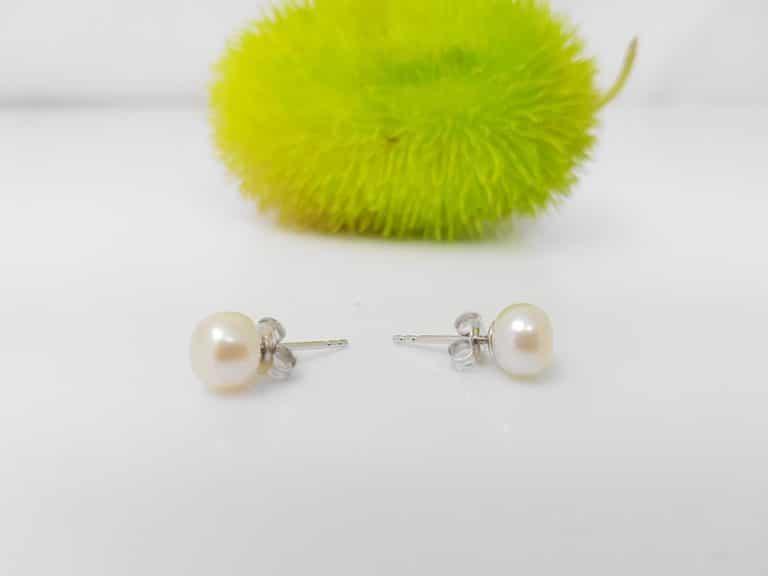 oorbellen met zilver en echte parels