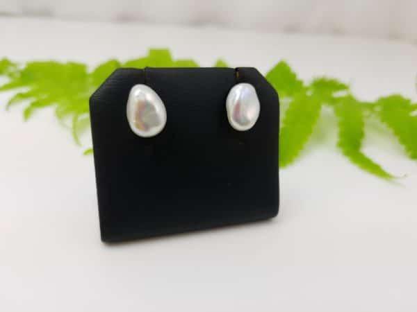 zilveren oorbellen van echte parels, keshi