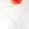 18k geelgouden ketting met echte parel en diamant