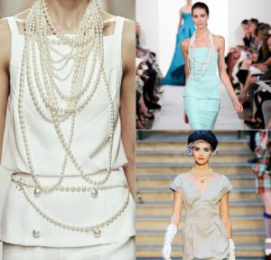 jurken met parels