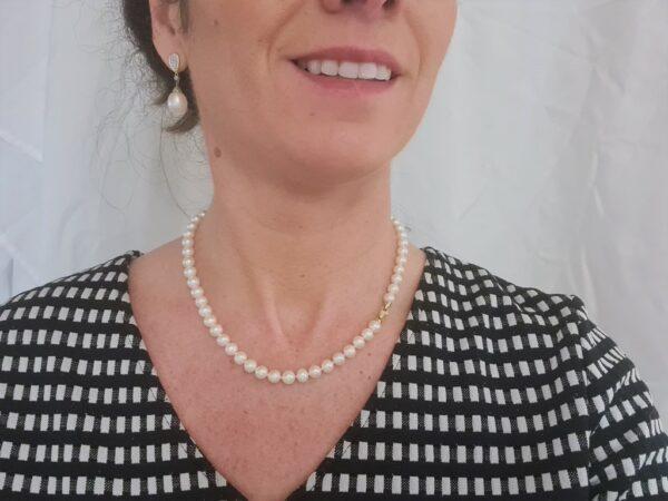 halsketting met geelgouden slot