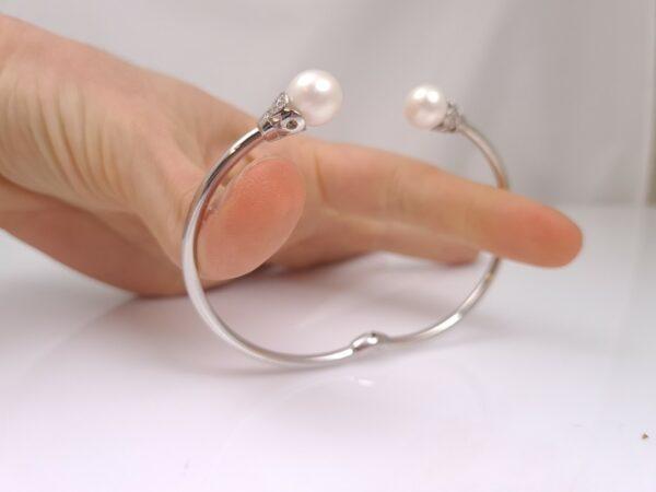 zilveren armband met echte parels