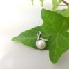 hanger in zilver met echte parel