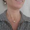 Zilveren ketting met barokke parel
