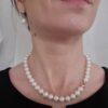 halsketting van echte parels met 18k geelgouden slot