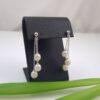 oorbellen met 3 parels