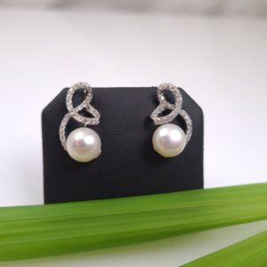 zilveren pareloorbellen