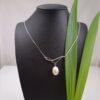 zilveren halsketting met echte parel