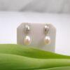 zilvere oorbellen met echte parels