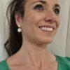 Zilveren oorbellen met echte parels.
