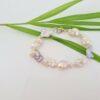 Armband van echte parels, keshi, natuurlijke tinten.